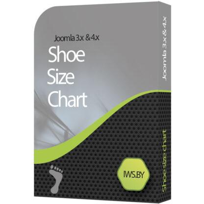 Shoe size chart for Joomla 3 and Joomla 4