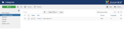 Simple restaurant menu for Joomla 3 - Administering Categories