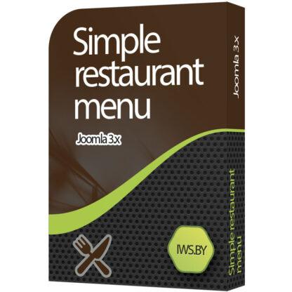 Simple restaurant menu for Joomla 3