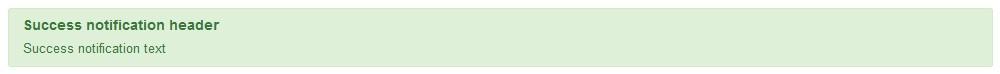 Joomla XML Note - Successful notification type