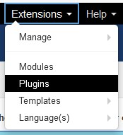 Plugin Manager in Joomla 3