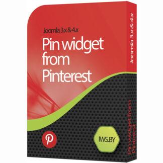 Pin widget from Pinterest for Joomla 3 and Joomla 4
