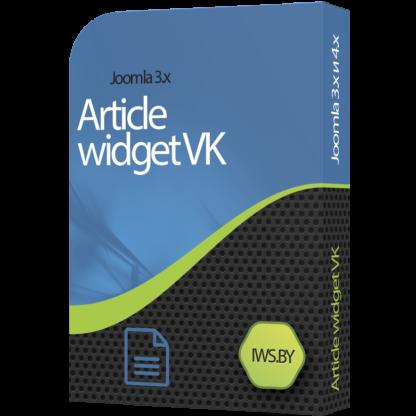 Vkontakte article widget for Joomla 3 and Joomla 4
