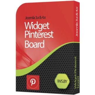 Widget Pinterest board for Joomla 3 and Joomla 4
